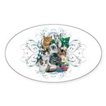 Cuddly Kittens Sticker (Oval 50 pk)