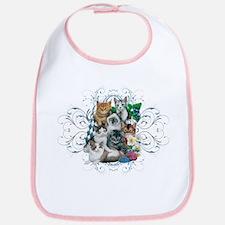Cuddly Kittens Bib