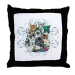 Cuddly Kittens Throw Pillow