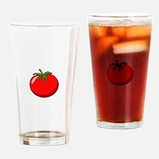 Cartoon Tomato Pint Glass