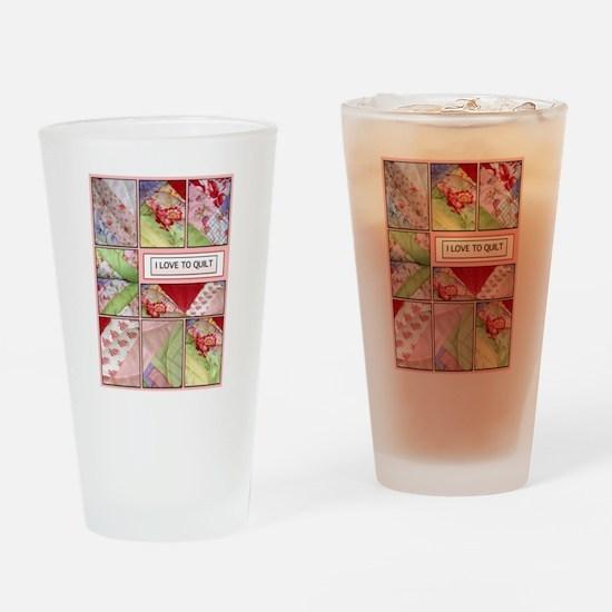 Shana's Quilt Drinking Glass