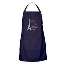 I Love Paris Apron (dark)
