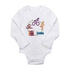 Tri Cycle Long Sleeve Infant Bodysuit