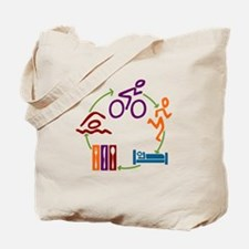Tri Cycle Tote Bag