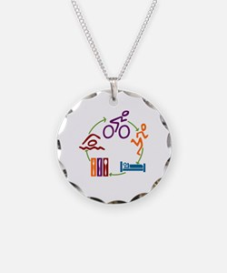 Tri Cycle Necklace