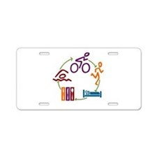 Tri Cycle Aluminum License Plate