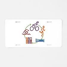 Tri Cycle Aluminum License Plate