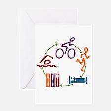 Tri Cycle Greeting Card