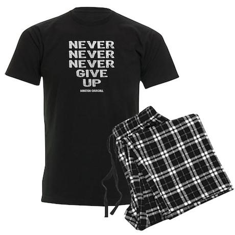 Never Give Up Men's Dark Pajamas