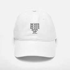 Never Give Up Baseball Baseball Cap