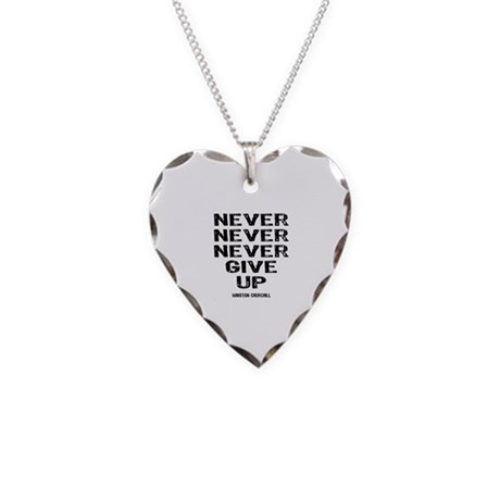 never give up necklace by lindasartwork