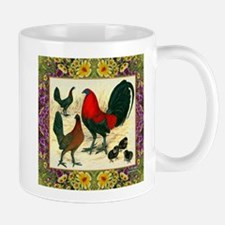 Flower Framed Gamefowl Mug