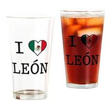 I Love Leon Pint Glass