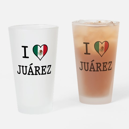 I Love Juarez Pint Glass