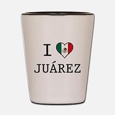 I Love Juarez Shot Glass