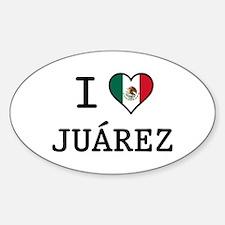 I Love Juarez Sticker (Oval)