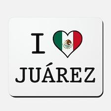 I Love Juarez Mousepad