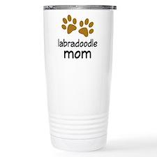 Cute Labradoodle Mom Stainless Steel Travel Mug