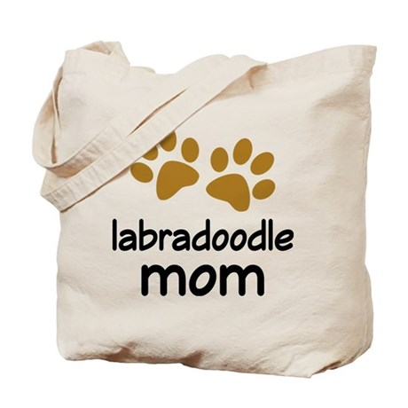 Cute Labradoodle Mom Tote Bag