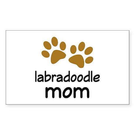 Cute Labradoodle Mom Sticker (Rectangle)