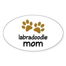 Cute Labradoodle Mom Decal