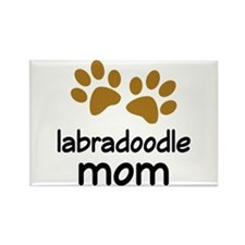 Cute Labradoodle Mom Rectangle Magnet