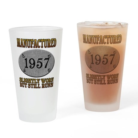 Manufactured 1957 Pint Glass