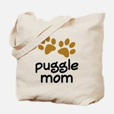 Cute Puggle Mom Tote Bag