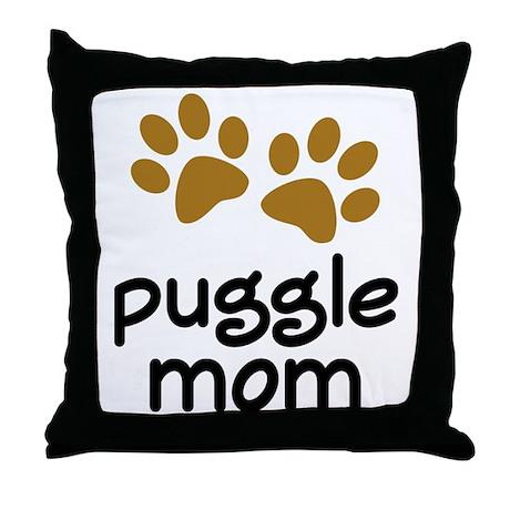Cute Puggle Mom Throw Pillow