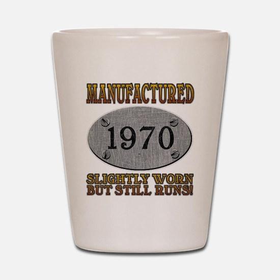 Manufactured 1970 Shot Glass