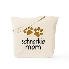 Cute Schnorkie Mom Tote Bag