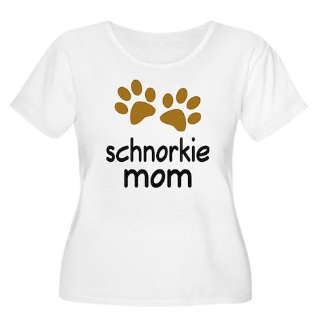 Cute Schnorkie Mom Women's Plus Size Scoop Neck T-