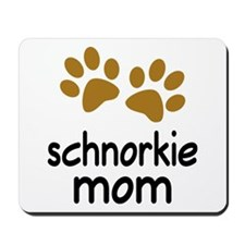 Cute Schnorkie Mom Mousepad