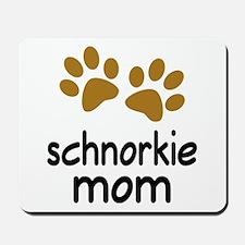 Cute Schnorkie Mom Mousepad