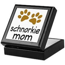 Cute Schnorkie Mom Keepsake Box