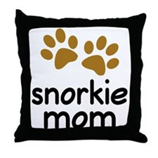 Cute Snorkie Mom Throw Pillow