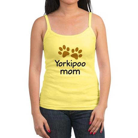 Cute Yorkipoo Mom Jr. Spaghetti Tank
