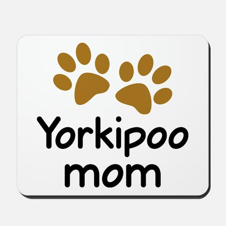 Cute Yorkipoo Mom Mousepad