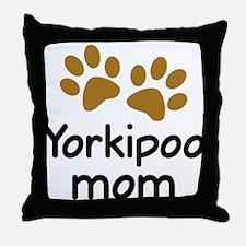 Cute Yorkipoo Mom Throw Pillow