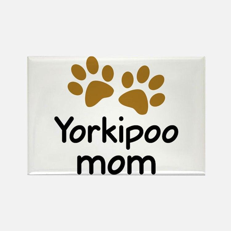 Cute Yorkipoo Mom Rectangle Magnet