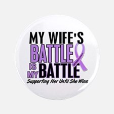 "My Battle Too Hodgkin's Lymphoma 3.5"" Button"