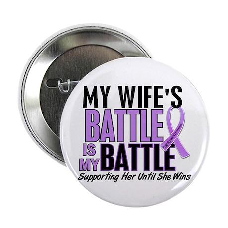 "My Battle Too Hodgkin's Lymphoma 2.25"" Button (10"