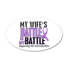 My Battle Too Hodgkin's Lymphoma 22x14 Oval Wall P