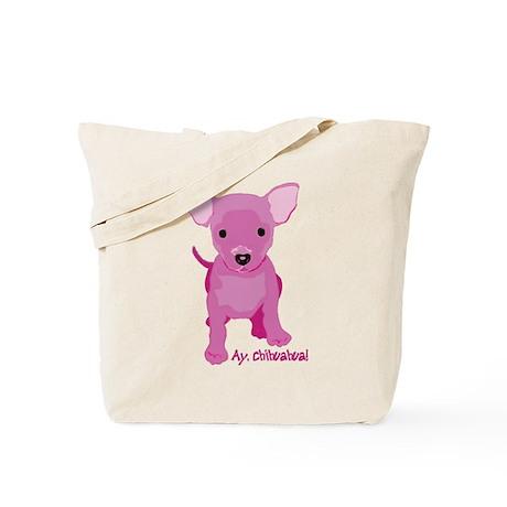 Pink Chihuahua Tote Bag