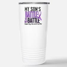 My Battle Too Hodgkin's Lymphoma Travel Mug