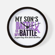 My Battle Too Hodgkin's Lymphoma Wall Clock