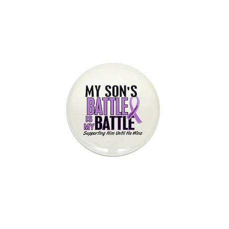My Battle Too Hodgkin's Lymphoma Mini Button (100