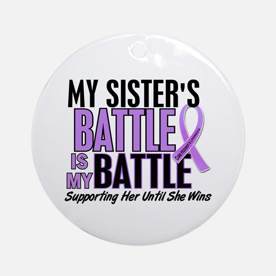 My Battle Too Hodgkin's Lymphoma Ornament (Round)