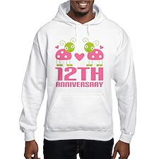 Twelfth Anniversary Gift Hoodie