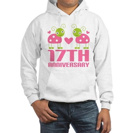 17th Anniversary Gift Hooded Sweatshirt